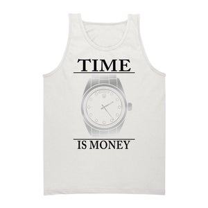 Image of PLATINUM Time Is Money Tank (White)
