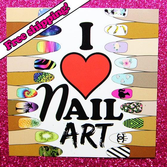 "Image of ""I LOVE NAIL ART"" sticker"