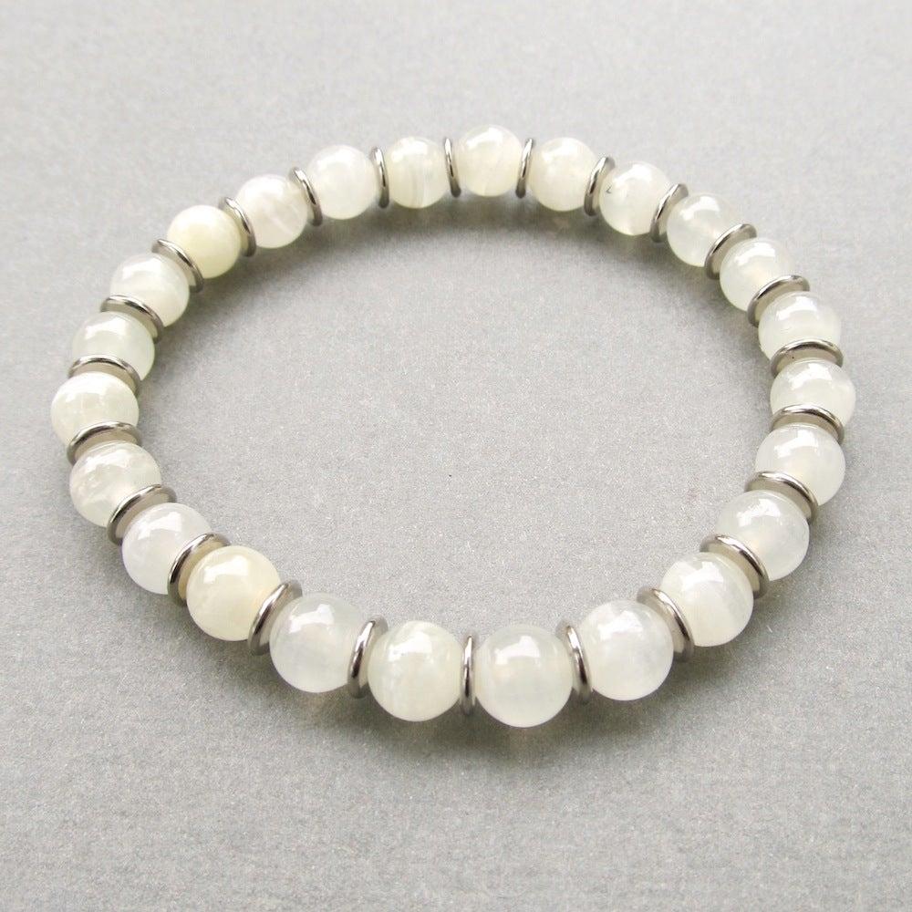 Image of Mens Natural Onyx Beaded Bracelet