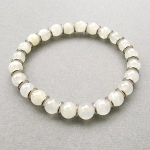 Image of Mens Natural Onyx Beaded Bracelet