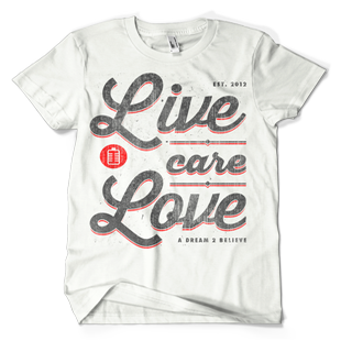 Image of White Live. Care. Love.