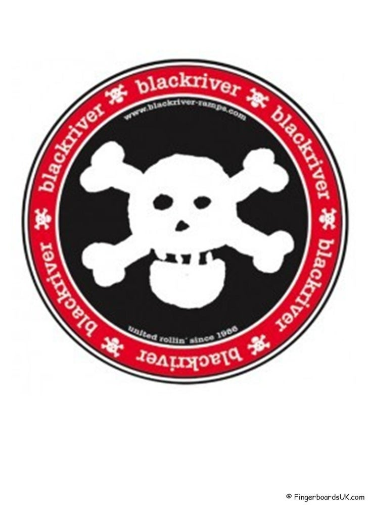 Image of Blackriver Ramps Sticker Skull Logo