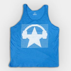 Image of Neon Blinds Tank Top - Unisex (BLUE)