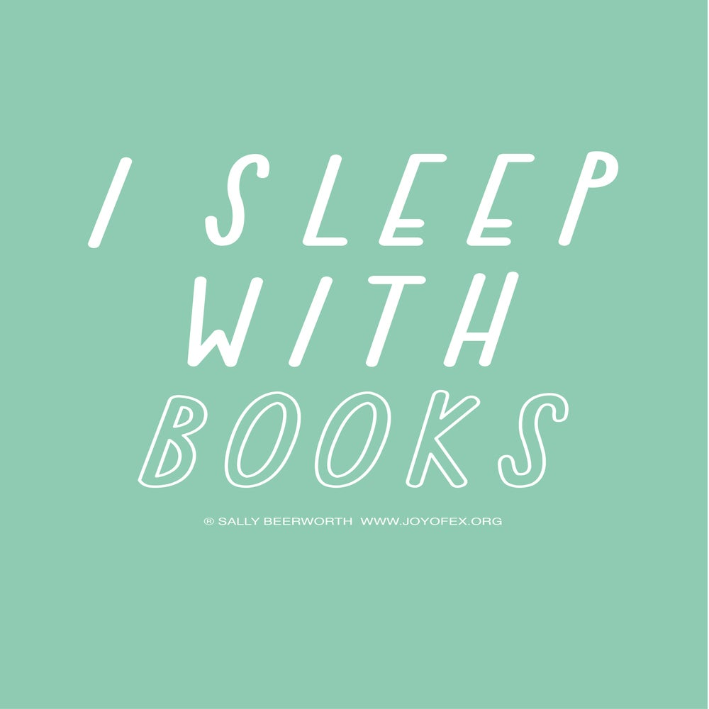 Image of I sleep with books A3 poster