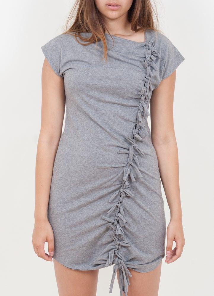 Image of Kleid Knoten grau meliert