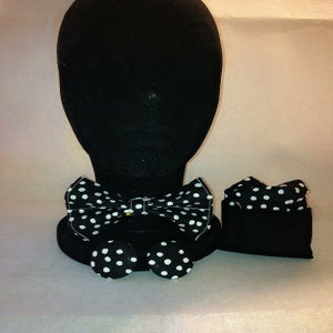 Image of Black & White Bow Tie