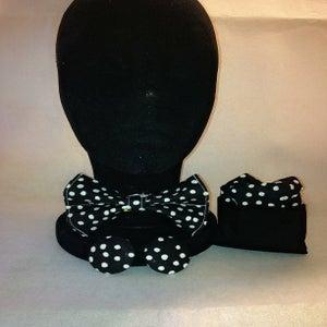 Image of Black & White Bow Tie
