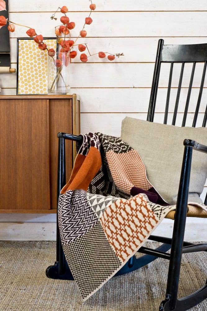 Image of Blanket 'Banjara' Orange/Purple