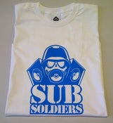 Image of Sub Soldiers White/B.Blue Logo Mens T-shirt