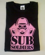 Image of Sub Soldiers Black/Neon Pink Logo Womans T-shirt
