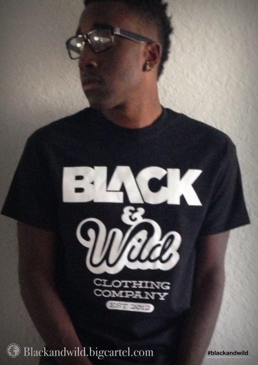 Image of Black & Wild logo Tee (Black)