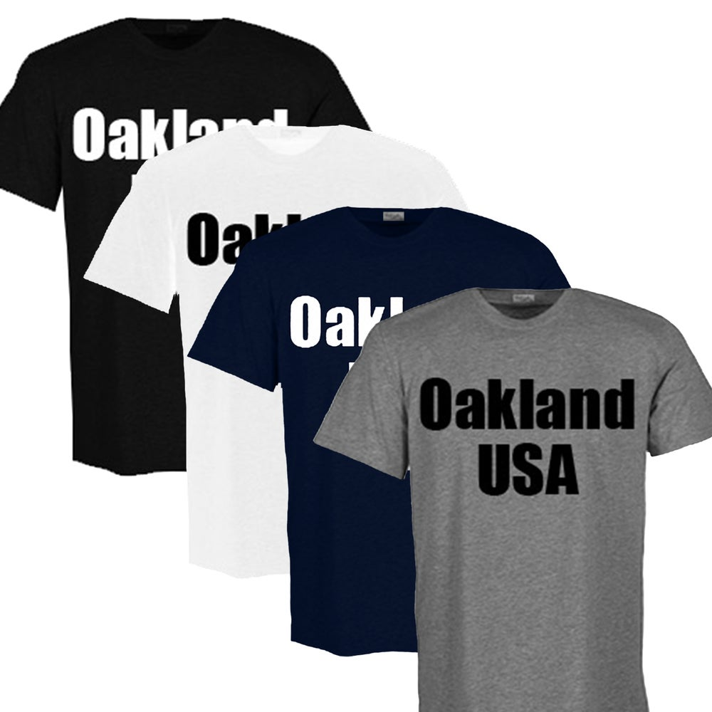 Oakland usa t shirt adult dopeonly for Big cartel t shirts