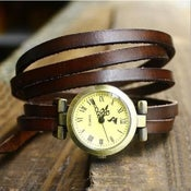 Image of Wrap Watch for Ladies and Girls Womens (W0111-brown)