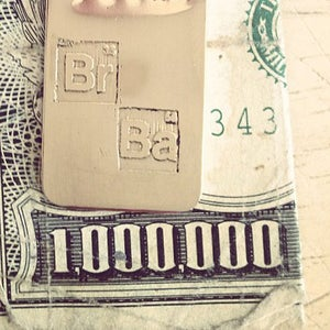 Image of the Breaking Bad bad mofo money clip