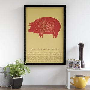 Portland Knows How to Pork by Alyson Thomas of Drywell Art. Available at shop.drywellart.com