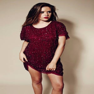 Image of Tempest Berry Lucy Sequin Slouch Dress