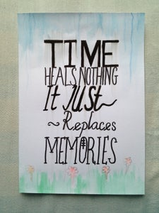 Image of Time Quote Watercolour Painting