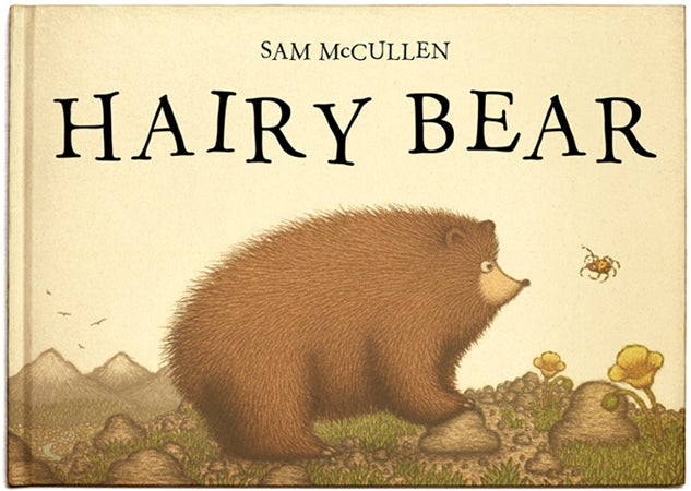 Image of HAIRY BEAR by Sam McCullen (signed hardback picturebook)