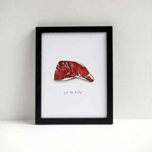 Just the Tri Tip - Archival Beef Print by Alyson Thomas of Drywell Art. Available at shop.drywellart.com