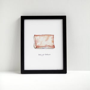 Baby Got Fatback - Archival Pork Print by Alyson Thomas of Drywell Art. Available at shop.drywellart.com