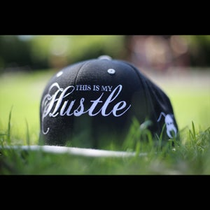 Image of This Is My Hustle Classic Logo Snapback (Black/White/Grey)