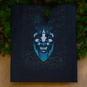 "Image of ""Turquoise Tribulations of Hades"" (Sick Of All Faces Series) Canvas by XWWX"