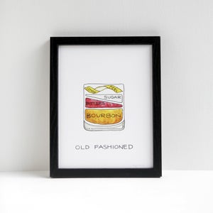 Old Fashioned Cocktail Print by Alyson Thomas of Drywell Art. Available at shop.drywellart.com