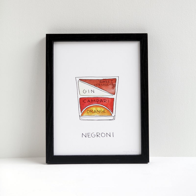 Image of Negroni Cocktail Print