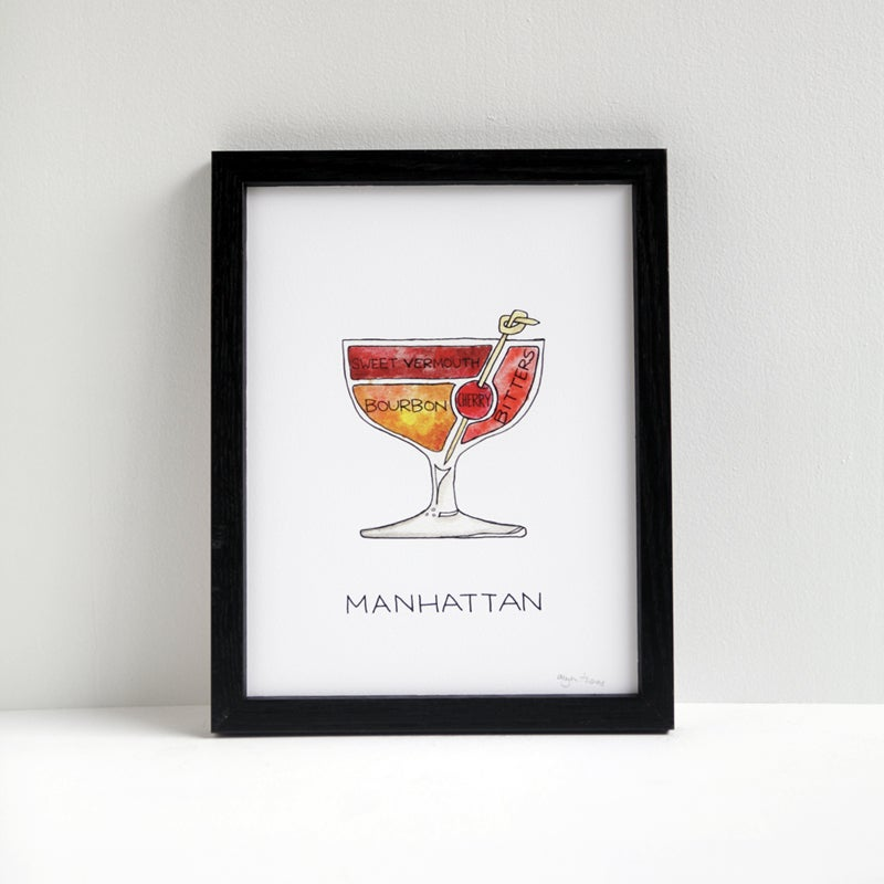 Image of Manhattan Cocktail Diagram Print