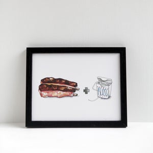 Ribs + Floss Print by Alyson Thomas of Drywell Art. Available at shop.drywellart.com