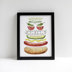 Chicago Hot Dog by Alyson Thomas of Drywell Art. Available at shop.drywellart.com