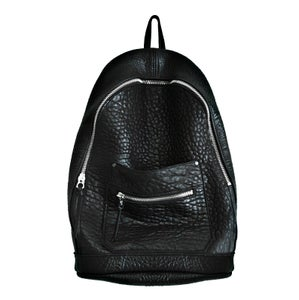 Image of Black Lambskin Collegiate Backpack