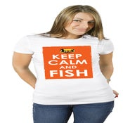 Image of Keep Calm & Fish Performance Short Sleeve T-Shirt