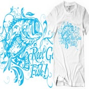 Image of Reel Girls Fish Cotton T-Shirt