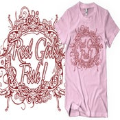Image of Reel Girls Fish Pink Cotton T-Shirt