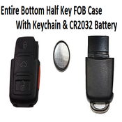 Image of Key FOB 3 Button [Square Buttons] controls with Panic + Battery Fits: VW Square Key FOB