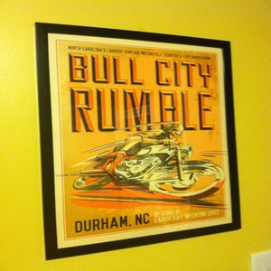 Image of Large Hand Screened/Signed Bull City Rumble 9 Ltd. Ed. Print