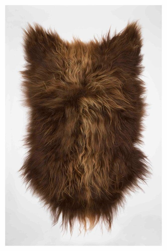 Image of RUSTY BROWN ICELANDIC SHEEPSKIN