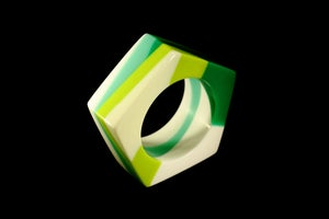Image of Colour Blocked Green Toned Bangle