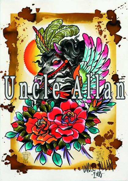 Image of Uncle Allan Unicorn Print