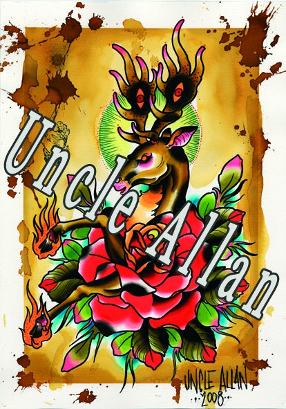 Image of Uncle Allan Deer Print