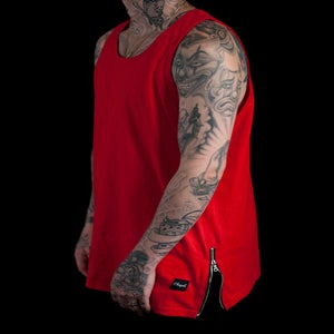 Image of Basic Zip Tank Red