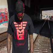 "Image of 3MG - ""Signature"" Black T Shirt w/ Red Logo"