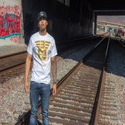 "Image of 3MG - ""Signature"" White T Shirt w/ Gold Logo"