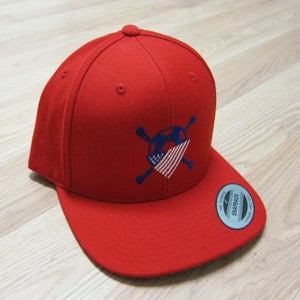 Image of AO Red Snapback Hat