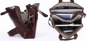 "Image of Handmade Genuine Leather Briefcase / Messenger / 14"" 15"" Laptop 13"" 15"" MacBook Bag (n18-2)"