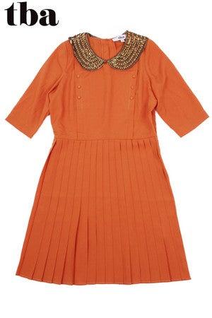Image of T.B.A. Burnt Orange Amelie Dress