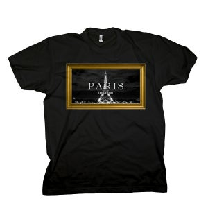 Image of Black 'Paris' Tee