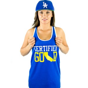 Image of Certfied Gold Royal Blue Tank