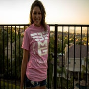 "Image of 3MG - ""Signature"" Pink T Shirt w/ White Logo"
